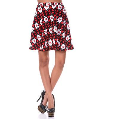Women's Triangles Heidi Flare Skirt - White Mark