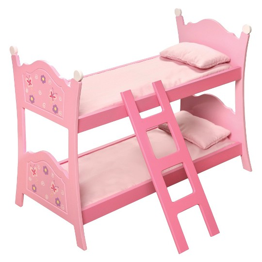 Badger Basket Blossoms & Butterflies Doll Bunk Beds with Ladder image number null
