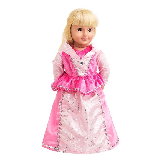 Little Adventures Doll Dress - Sleeping Beauty, Girl's, Size: Small, Pink image number null