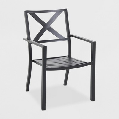 Afton Metal X-Back Chair Black - Threshold™