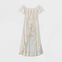 Girls' Off The Shoulder Walk-Through Striped Dress - art class™