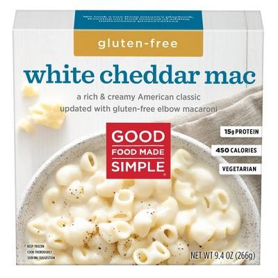 Good Food Made Simple Frozen Gluten Free White Cheddar Mac - 9.4oz