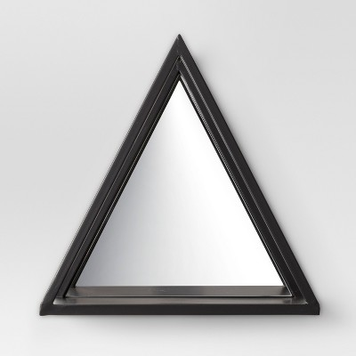 Mirrored Black Triangle Wall Shelf - 12 X 12 - Project 62™