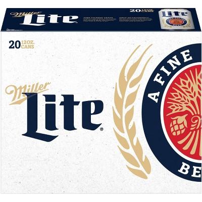Miller Lite Beer - 20pk/12 fl oz Cans