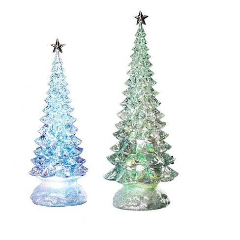 Lit LED Pastel Christmas Trees Set 2-ct - image 1 of 1