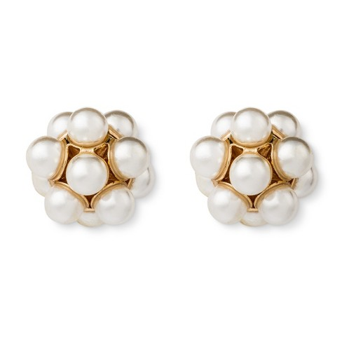 Simulated Pearl Stud Earring Multipack - Gold - image 1 of 2