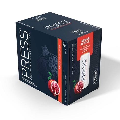 Press Hard Seltzer Pomegranate Ginger - 6pk/12 fl oz Cans - image 1 of 2