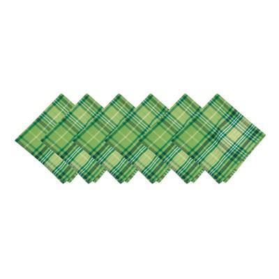 C&F Home Conner Plaid St. Patrick's Napkin Set of 6