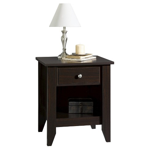 Shoal Creek Nightstand With Drawer Storage Shelf Jamocha Wood Sauder Target