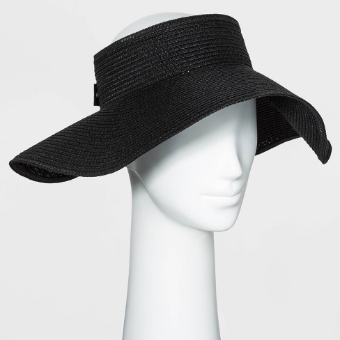 Women's Straw Visor Hat - A New Day™ - image 1 of 3