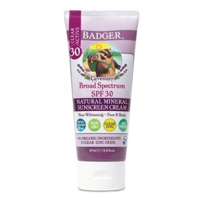 Badger Lavender Mineral Sunscreen Cream - SPF 30 - 2.9 fl.oz