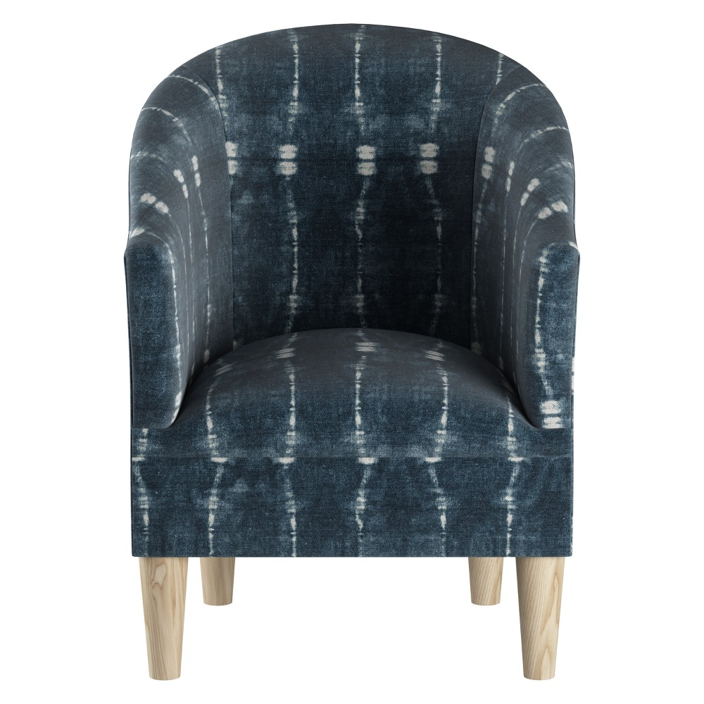 Upholstered Tub Chair Bali Indigo with Natural Legs - Skyline Furniture, Bali...