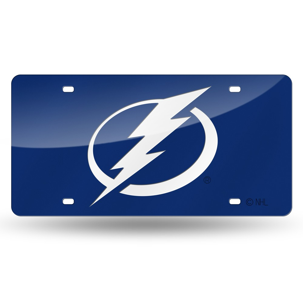 Tampa Bay Lightning Rico Industries Laser Cut Auto Tag