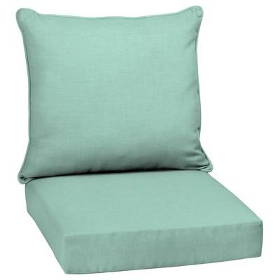 Leala Texture Deep Seat Outdoor Cushion Set Aqua - Arden Selections
