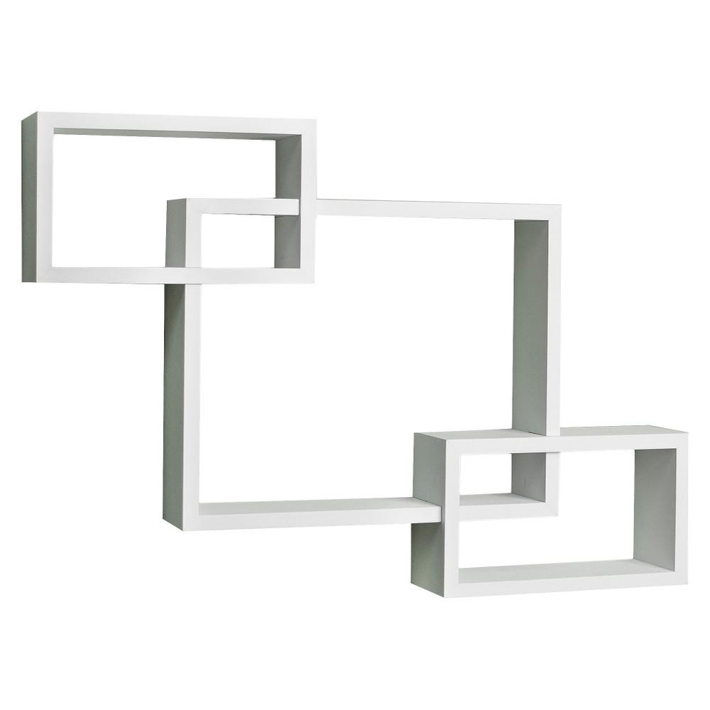 26.5 x 18.75 Intersecting Rectangular Wall Shelf White - Danya B. Best