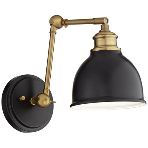 Swing Arm Wall Lamp Black Antique Br