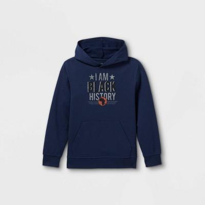 Black History Month Kids' 'I Am Black History' Hooded Sweatshirt - Blue