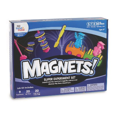 hand2min Magnets Super Science Kits For Kids, Science Experiments And Fact-Filled Guide