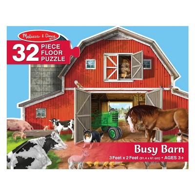 Melissa And Doug Busy Barn Jumbo Floor Puzzle 32pc