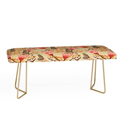 Holli Zollinger Mademoiselle Temple Butterfly Bench - Deny Designs