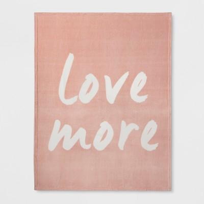 'Love More' Plush Throw - Room Essentials™