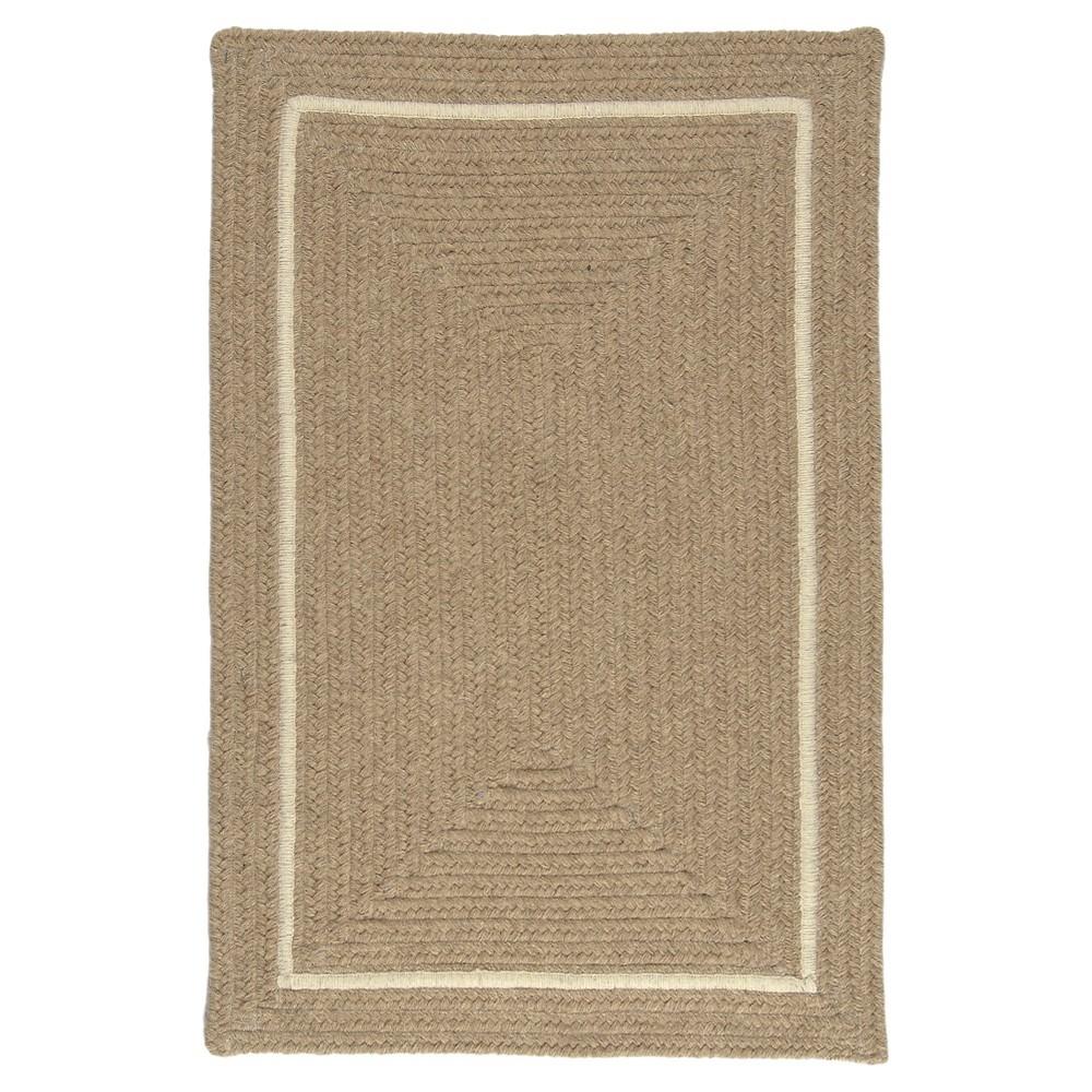 Shear Natural Braided Accent Rug - Muslin - (3'x5') - Colonial Mills