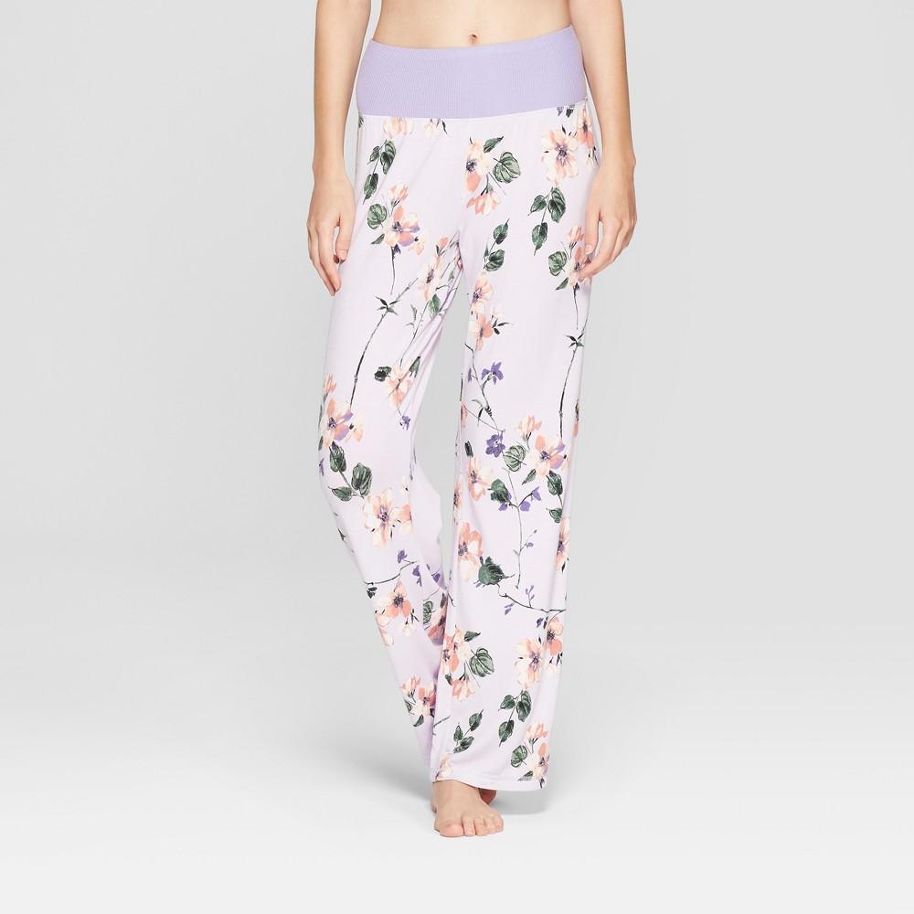 Maternity Floral Print Pajama Pants Violet Xxl, Women's, Purple