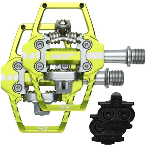 HT T1-SX BMX-SX Green Pedals Dual Sided Clipless with Platform Aluminum 9/16 - image 1 of 2