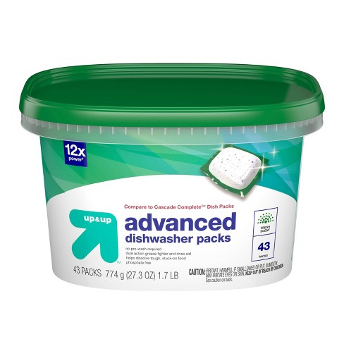 Up&Up™ Dishwasher Advanced Detergent Pacs - 48ct (Compare to Cascade Complete® Dish Packs) - image 1 of 3