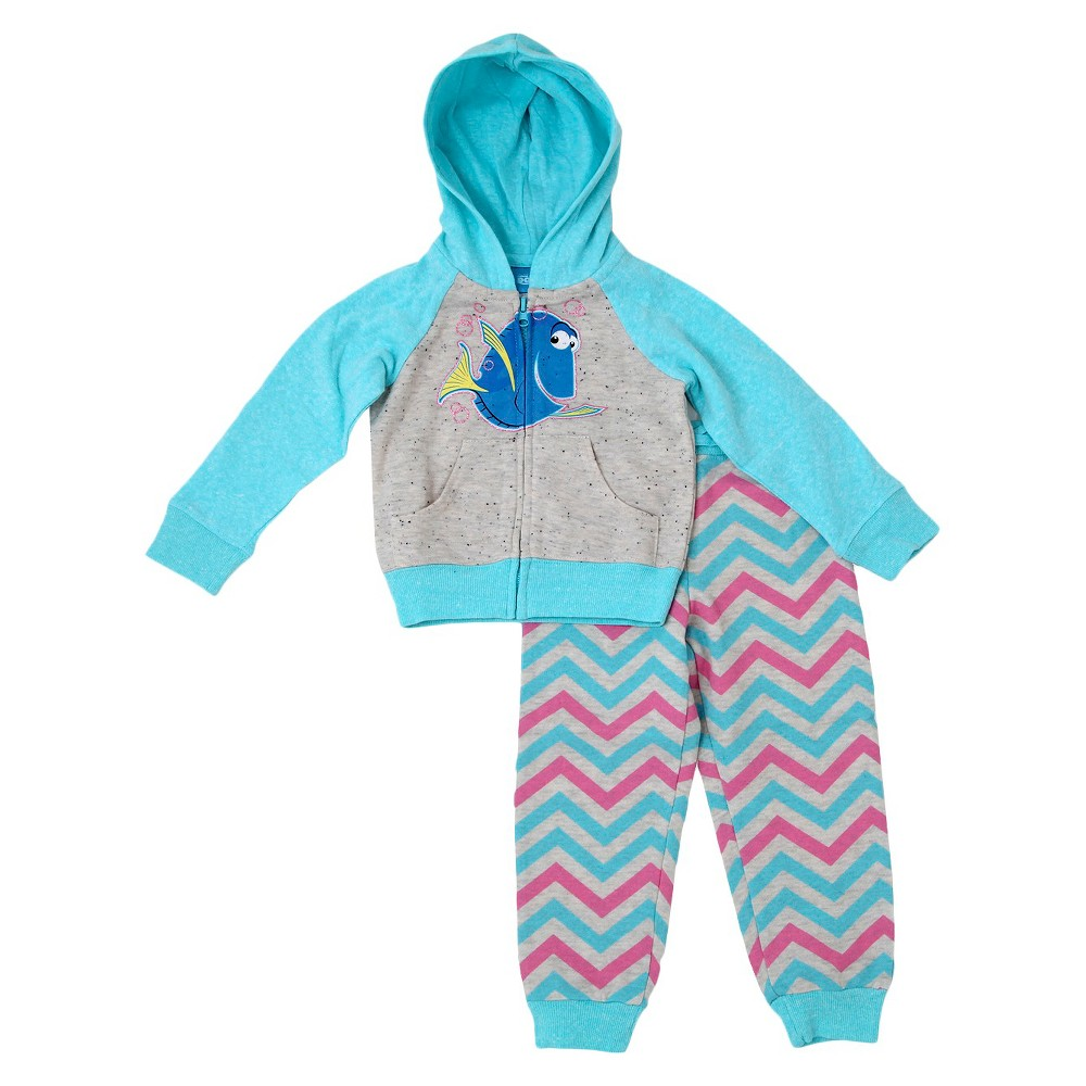 Baby Girls' Finding Dory Top And Bottom Set DisneyOatmeal Heather 12M, Oatmeal Heather