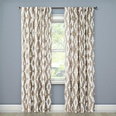 Light Filtering Curtain Panel Summer Tahoe Khaki 84  - Project 62™
