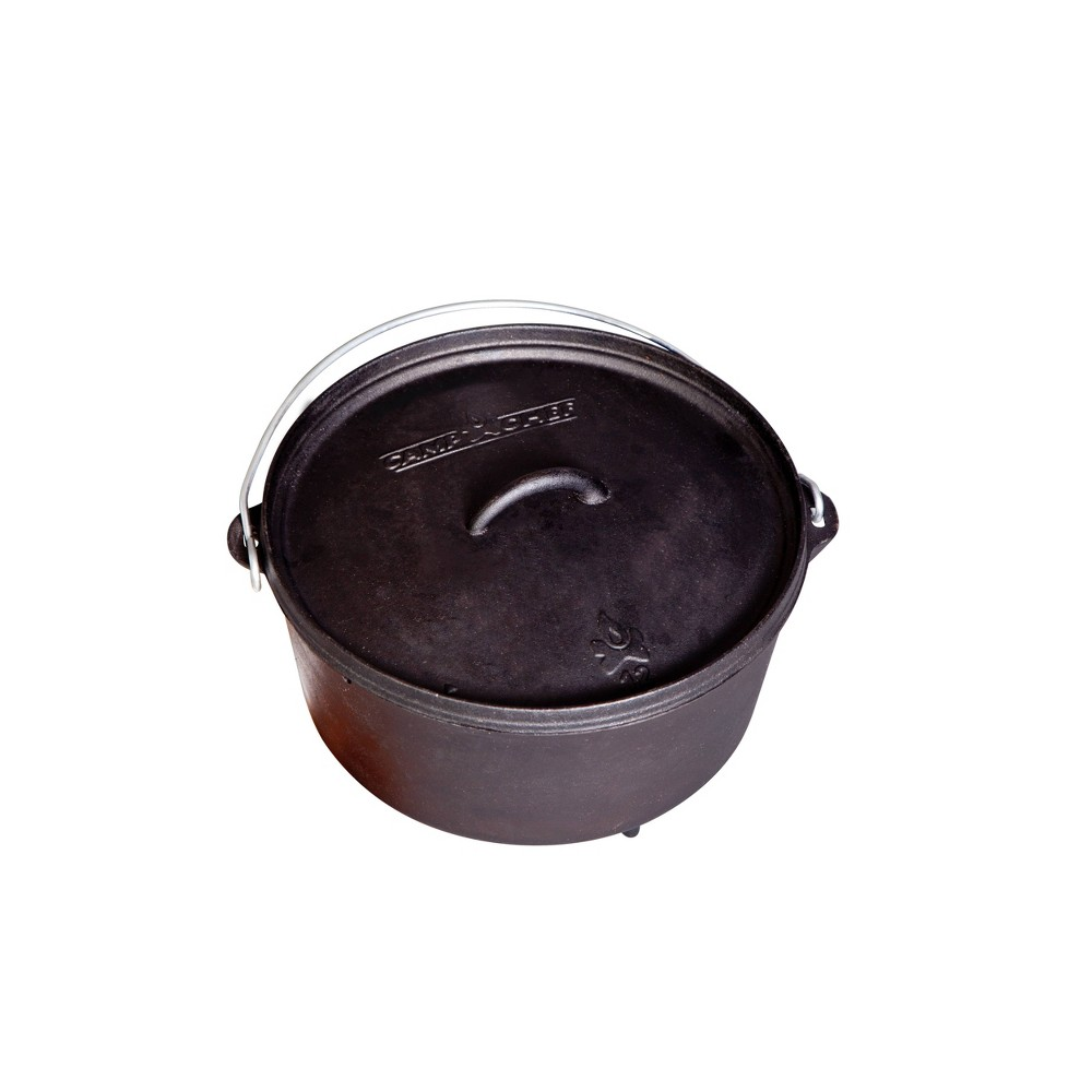 Image of Camp Chef 6qt Classic Cast Iron Standard Dutch Oven - Black