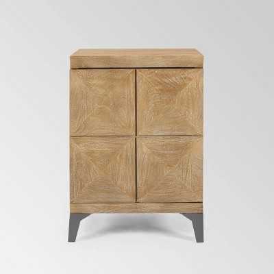 Glover Boho Cabinet Gray Antique - Christopher Knight Home