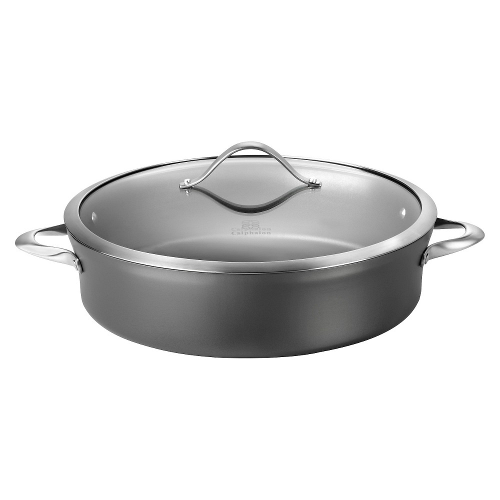Calphalon 1876962 Contemporary 7 Quart Non-stick Dishwasher Safe Saute use Sauce Pan, Gray