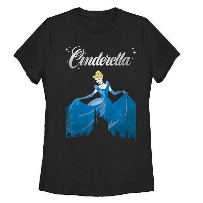 Women's Cinderella Dress Silhouette T-Shirt