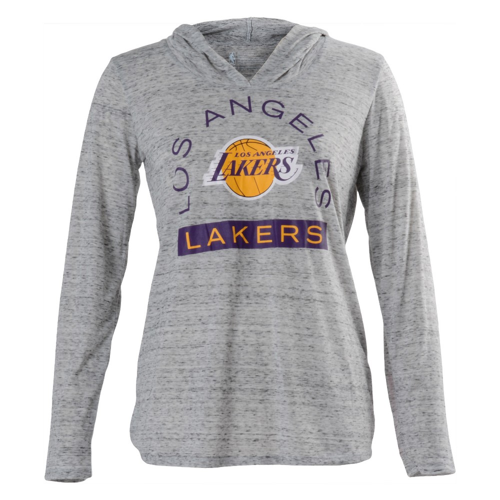 Los Angeles Lakers Women's Tech Arch Gray Lightweight Hoodie M, Multicolored
