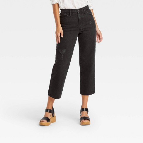 Women's Vintage Straight Cropped Jeans - Universal Thread™ - image 1 of 3