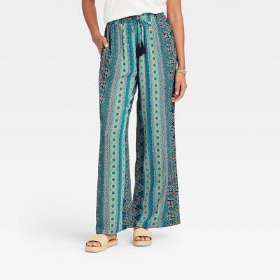 Women's Printed Pull-On Pants - Knox Rose™ Blue