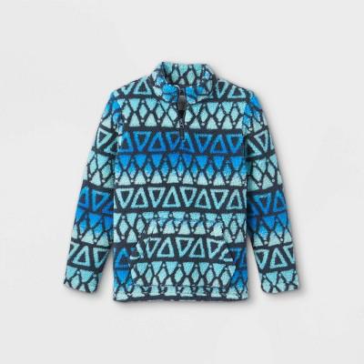 Boys' Quarter Zip Printed Mock Neck Sweatshirt - Cat & Jack™