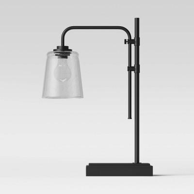 Bubble Glass Desk Lamp Black (Includes LED Light Bulb)- Threshold™