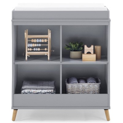 Delta Children Jordan Convertible Changing Table and Bookcase - Gray