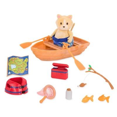 Li'l Woodzeez Miniature Playset with Animal Figurine 13pc - Boating Set?