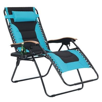 Oversize Padded Zero Gravity Lounge Chair - Aqua - Captiva Designs