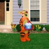 Gemmy Airblown Inflatable Birthday Party Tigger with Cake, 3.5 ft Tall, orange - image 2 of 2