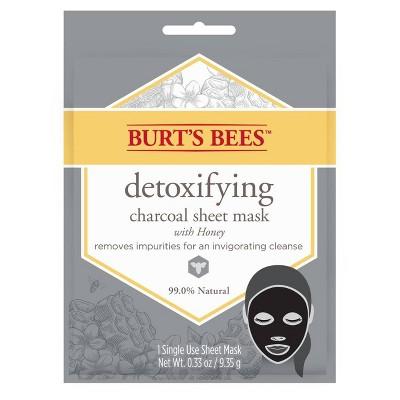Burt's Bees Detoxifying Charcoal Sheet Face Mask - 1ct - 0.33oz