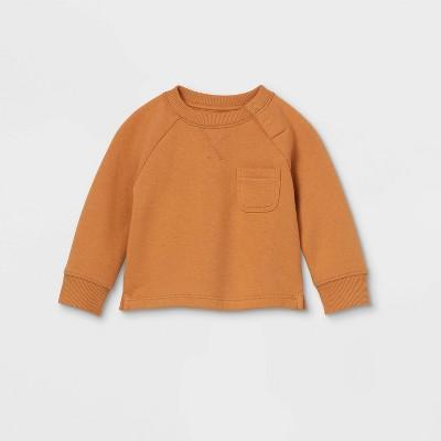 Baby Knit Pullover Sweatshirt - Cat & Jack™ Brown 3-6M