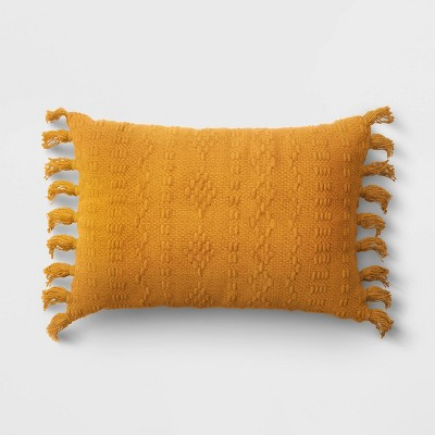 Woven Lumbar Throw Pillow Yellow - Threshold™