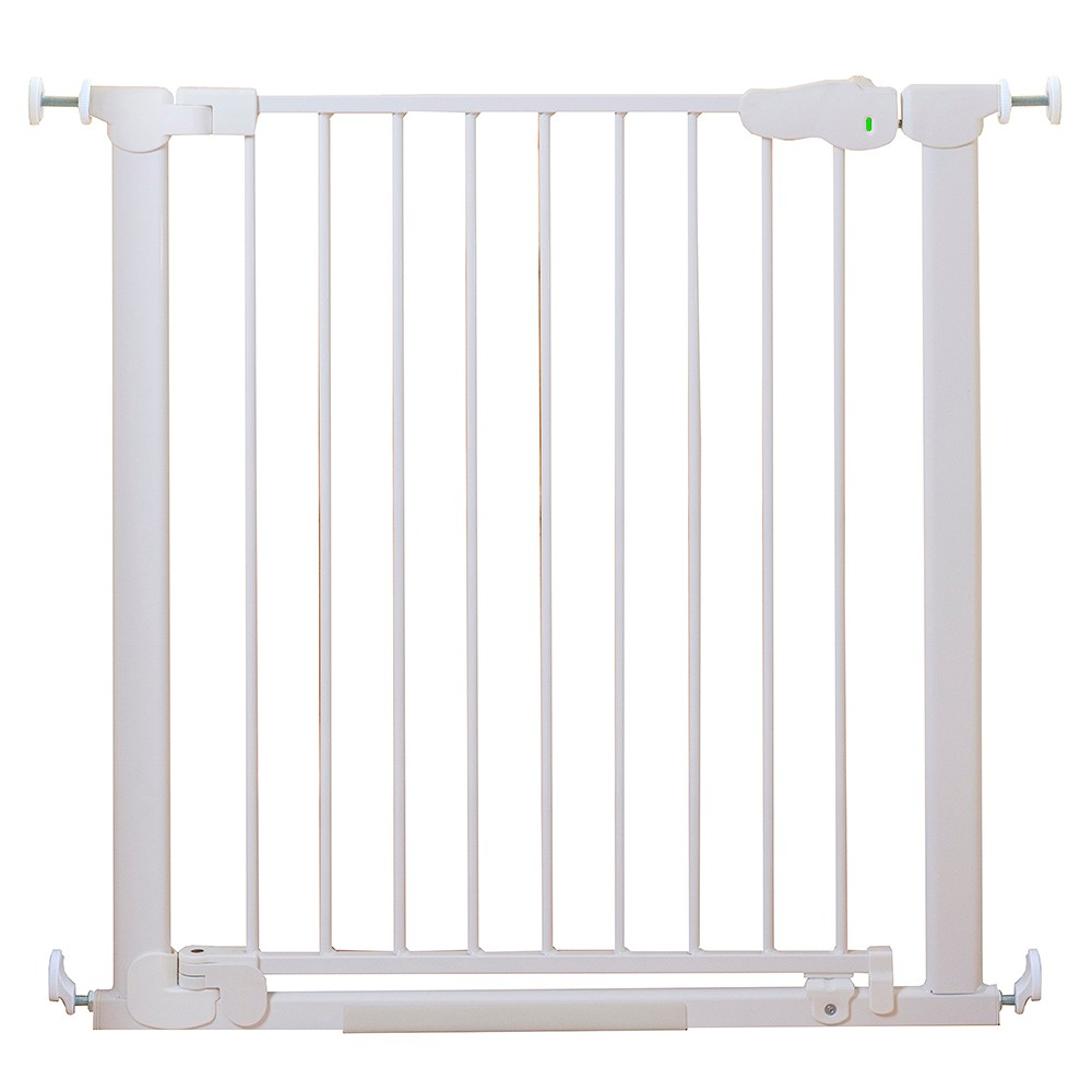 Image of Qdos AutoClose SafeGate Baby Gate - Pressure Mount - White