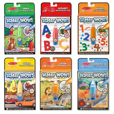 Melissa & Doug Water Wow! - Water Reveal Pad Bundle - Animals, Alphabet, Numbers and More - image 1 of 4