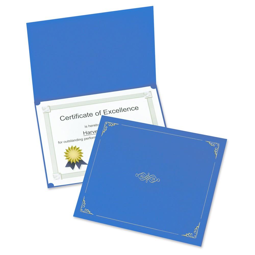 Oxford Certificate Holder, 11 1/4 x 8 3/4, Dark Blue, 5pk
